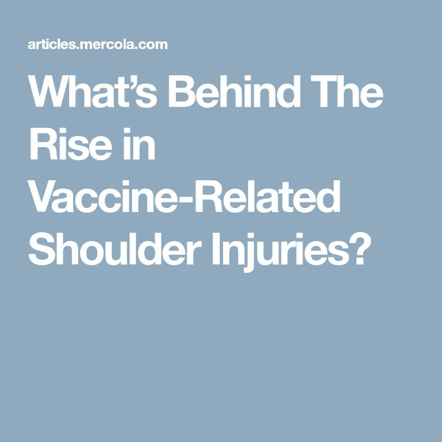 What's Behind The Rise in Vaccine-Related Shoulder Injuries?