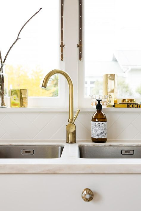 Monobloc Single Lever Tap Brushed Gloss Brass Finish