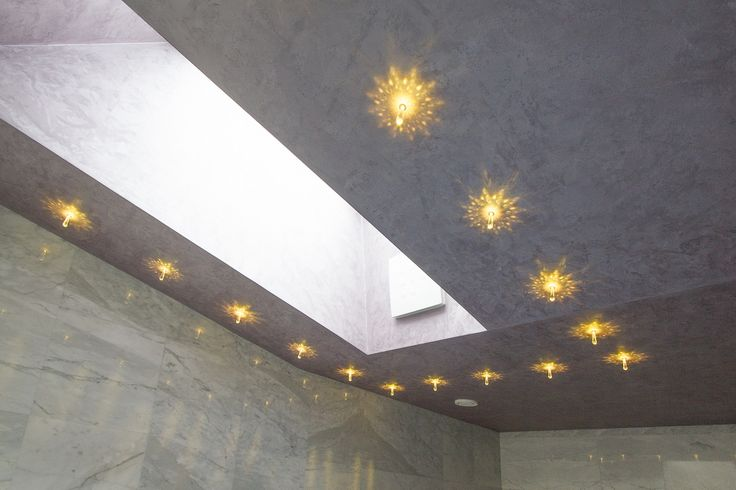 Starry sky made with SWAROVSKI ELEMENTS. Starry sky consists of crystal FLOW. Hotel LOWE, Piešťany, Slovakia.