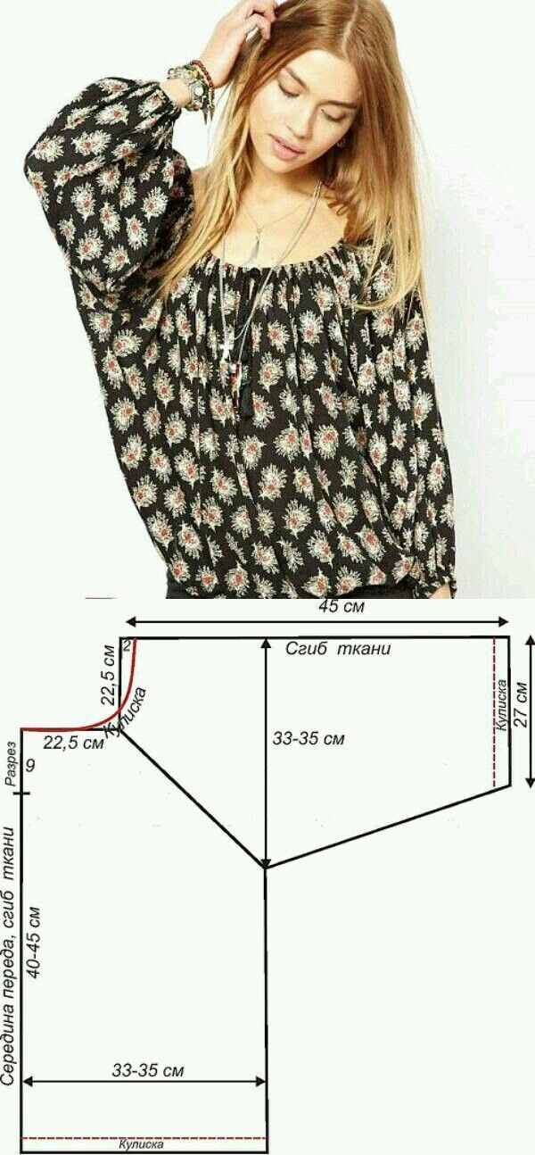 Once this type of garment was called a  called peasant blouse.   Very easy to make and never out of fashion.