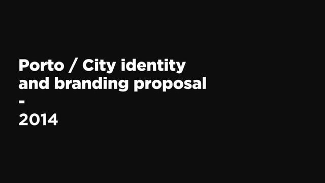 In June of this year (2014) we were invited, along with two other studios, to conceive a new visual identity for the city of Porto.