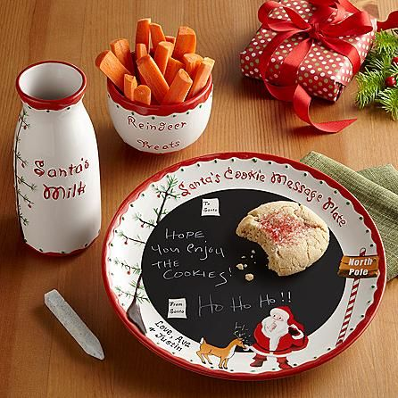 Adorable Personalized Dear Santa Plate Set... will need to get my future children this!
