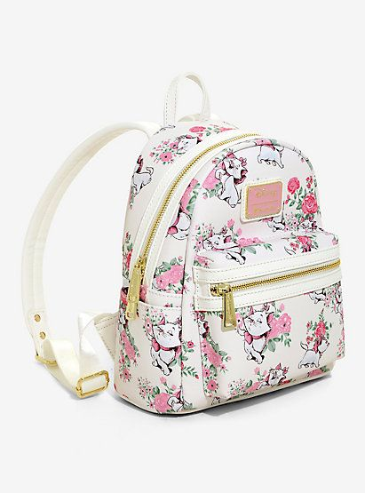 Loungefly Disney The Aristocats Marie Floral Mini Backpack ... c62a2bb9e41e8