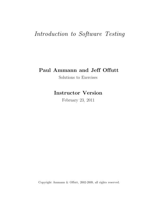 Exer Instructor Cis 74723 St John S Software Testing Solutions Introduction