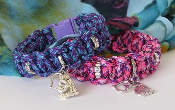 Cat Charm Bracelet / Paracord Cat Bracelet / Love My Cat