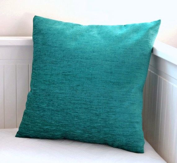 blue teal cushion cover accent pillow cover 14 by LittleJoobieBoo