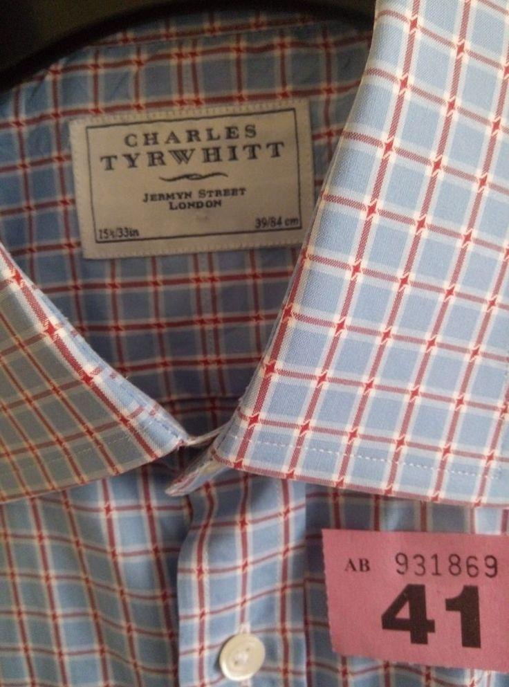 "Charles Tyrwhitt 15.5"" Classic Fit Men's Shirt Long Sleeve Double Cuff Excellent  | eBay"
