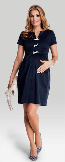 Princess navy платье с V-образным вырезом декольте для беременных и кормящих