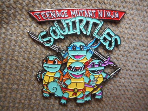 Rare Teenage Squirtles Pin FREE SHIPPING by DesignsByDonnyLLC