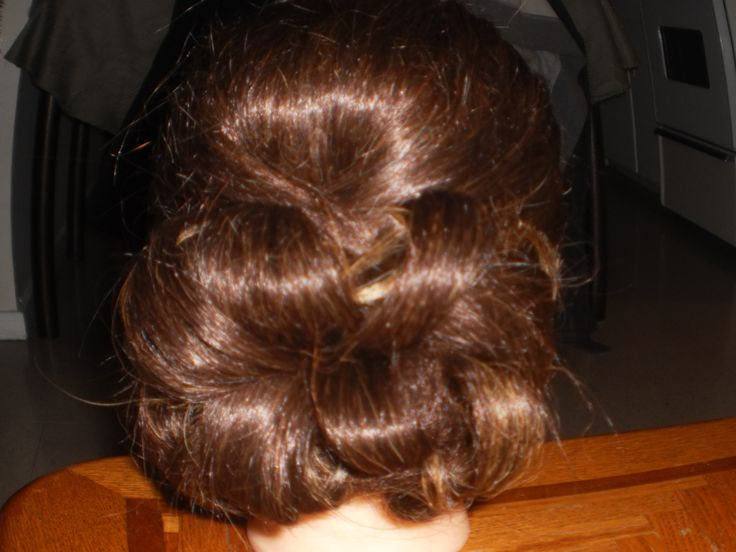 updo back view