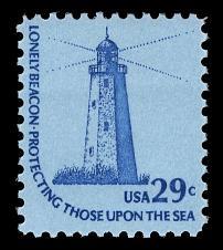 Sandy Hook, New Jersey Lighthouse. 1978 U.S. postage stamp.