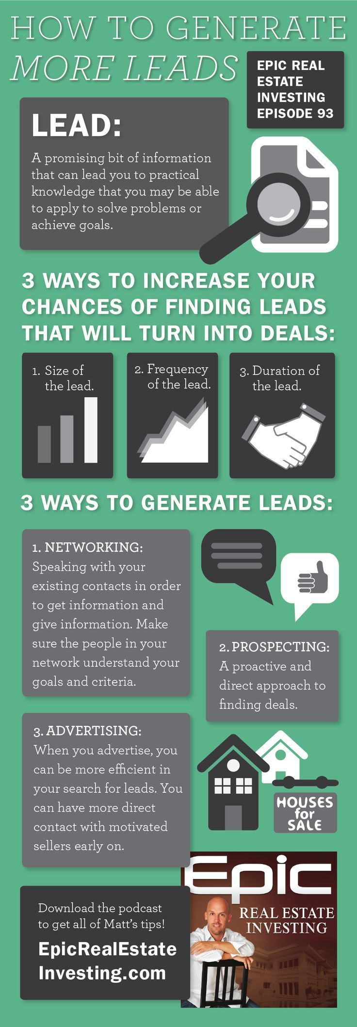 Three ways to generate more leads infographic