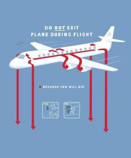 In-Flight safety tip   Aviation Humor