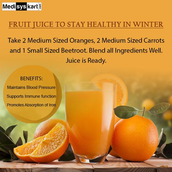 #Medisys #FitTips :- #Fruit #juice for #Winters
