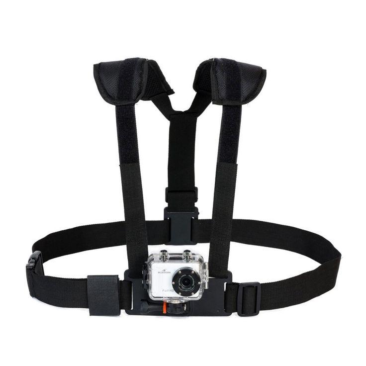 Partez en roller, vélo, moto ou même parapente avec votre caméra sport prête à filmer vos exploits grâce à ce harnais pectoral totalement ajustable.