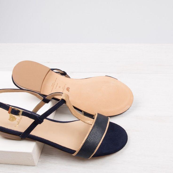 Sandalias color azul Marino Bobbies L'Exquise