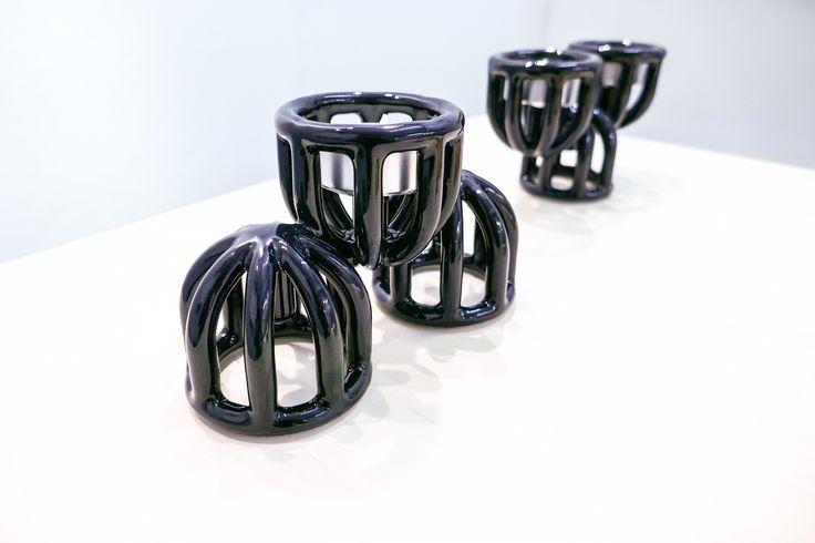 3D printed ceramic Candelabras presented at London Design Fair 2017, MALINKO Design