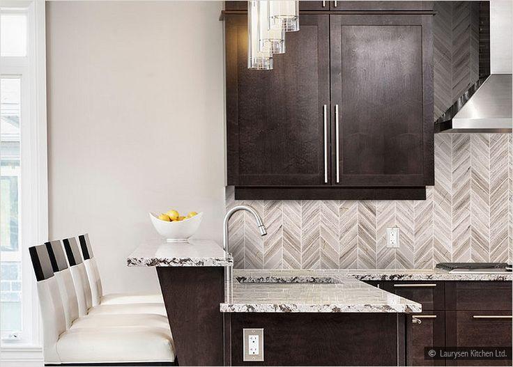 espresso cabinet delicatus white countertop marble backsplash