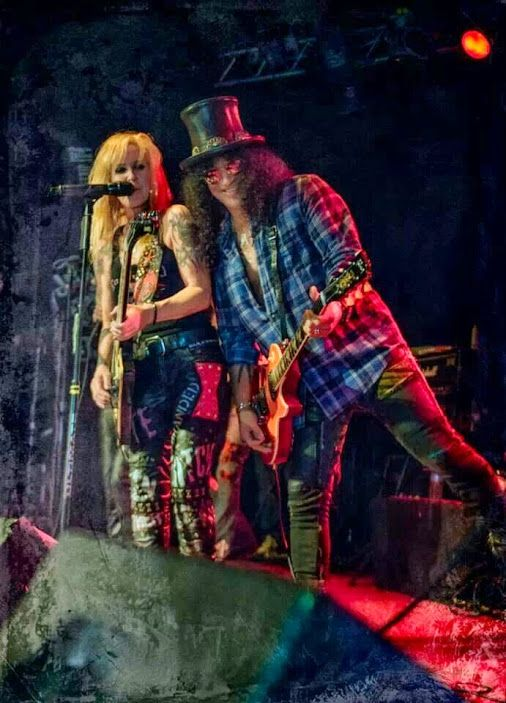 Lita Ford and Slash