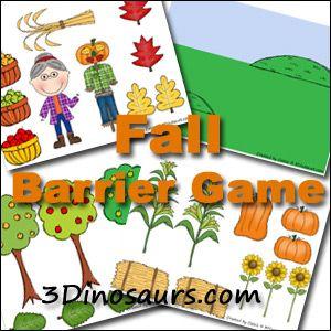 Fall Barrier Game - 3Dinosaurs.com