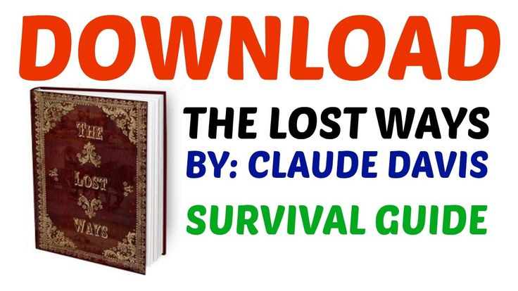 The Lost Ways Download | Discovering The Lost Ways Download