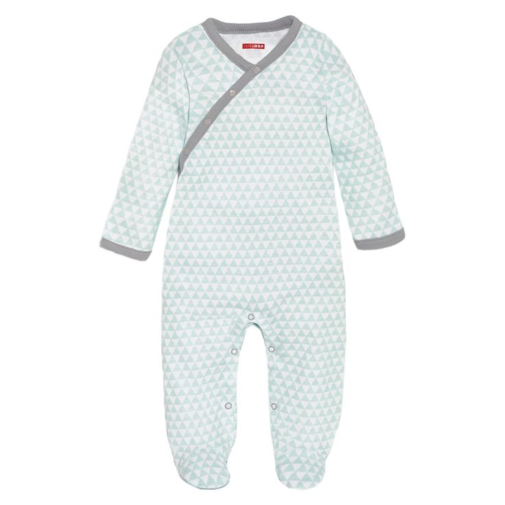 Skip Hop Petite Triangles Side-Snap Footies Baby, Blue, Infant Boy's, Size: NB