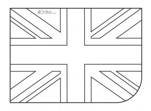 Get your child to colour in the British Union Flag! iChild.co.uk