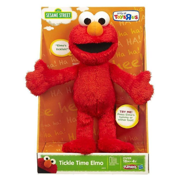 Sesame Street Elmo Tickle Time Squeezeable Shake Laughing Noises Funny Phrases #Hasbro