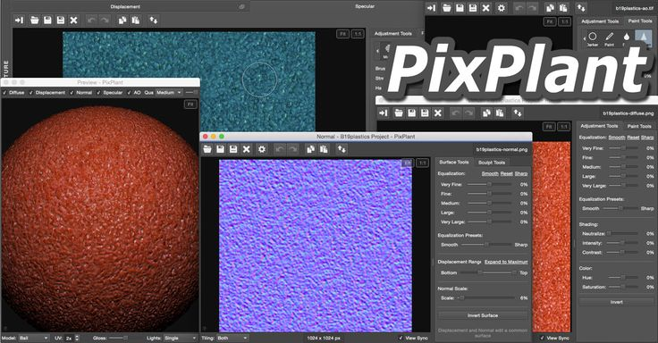 PixPlant is a smart texturing app with everything needed to quickly transform a plain photo into seamless repeating textures and 3D maps.