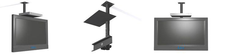 Instalacion de soporte al techo con repisa o bandeja para dvd o decodificador | Bases y Soportes Ltda