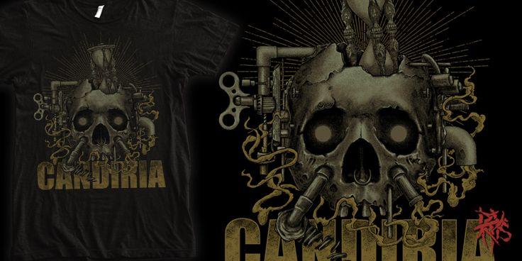 """Candiria - Skull Machine"" t-shirt design by RectopusArt"