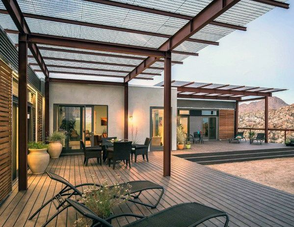 Top 40 Best Deck Roof Ideas - Covered Backyard Space ...