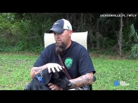 We love service dogs. They help in so many different and wonderful ways. See the full story at: http://blog.bigbarker.com/watch-service-dog-action-helps-calm-soldier-ptsd/?utm_source=dlvr.it&utm_medium=facebook