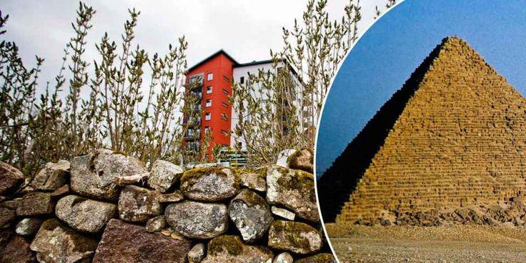 Kalmars stenmurar skulle räcka till sju pyramider