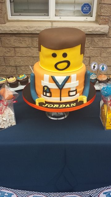 Lego Movie Birthday Party cake!  See more party ideas at CatchMyParty.com!