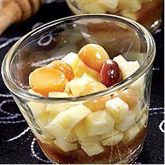 Pommes confites au cidre et miel du Gâtinais