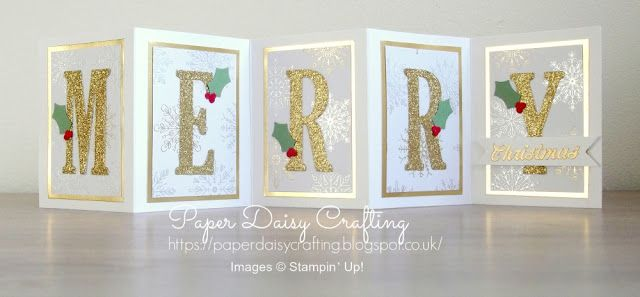 MERRY Christmas card using Large Letter dies