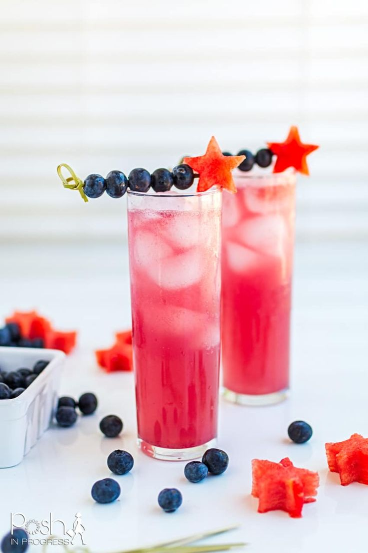 Stacey shares a smash cocktail recipe using blueberries, watermelon, and vodka. She creates a simple blueberry syrup to…