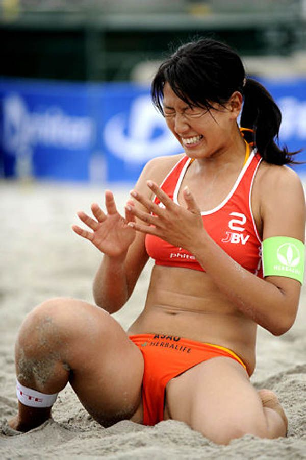 Sand volleyball female players of dating 10