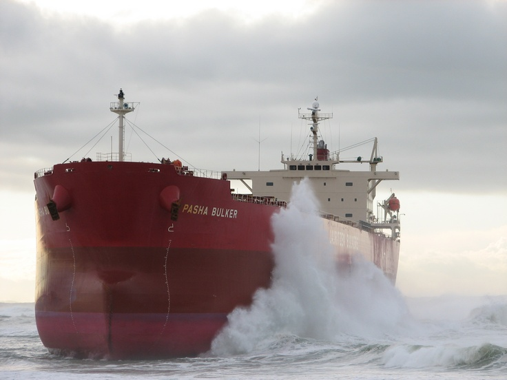 Pasha Bulker - Nobbys Beach, Newcastle NSW June 2007.  The ship was removed without an oilspill.