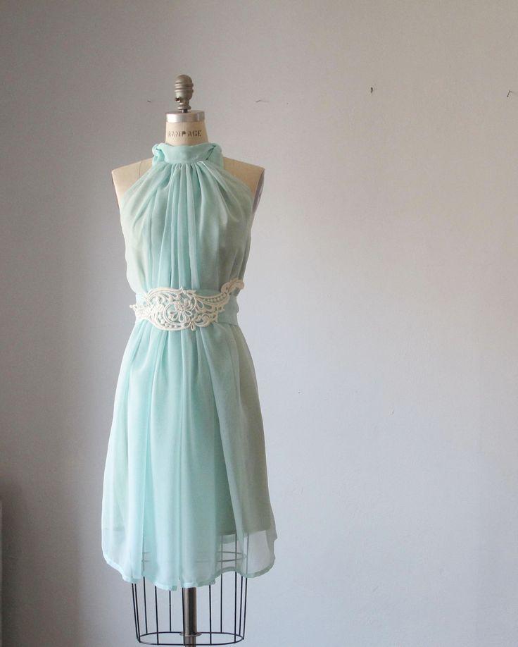 Dress Romantic Bridesmaids Wedding Dreamy Misty Aqua blue ...