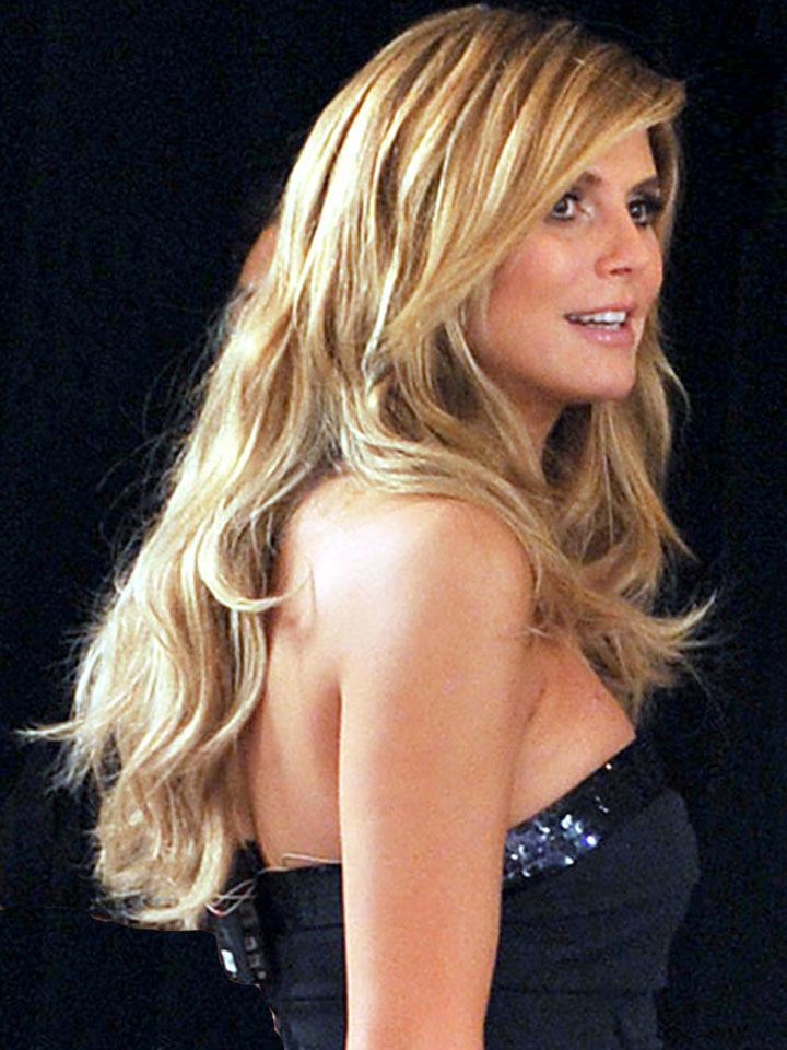 Heidi Klum Long Wavy Hairstyles Beautiful Long Hair