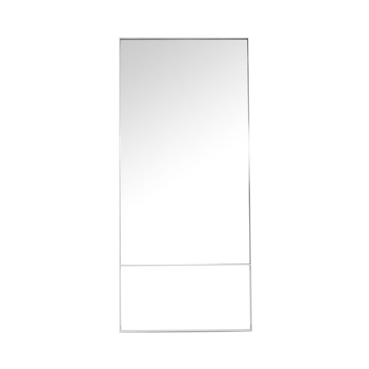 Industrial Designer New York White Steel Floor Mirror - Modern Furniture