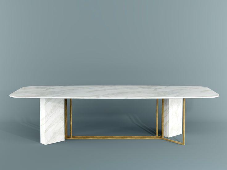 PLINTO Tavolo rettangolare by Meridiani design Andrea Parisio
