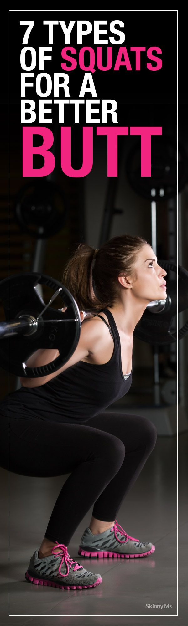 7 Types of Squats for a Better Butt! #squats #fitness #buttworkouts
