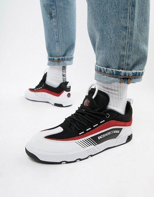 302dd24c73 DC Shoes Legacy 98 Slim Sneaker in Black   Red in 2019