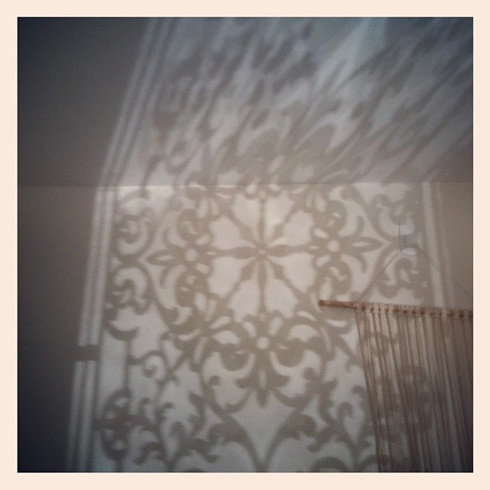 shadow play in the studio
