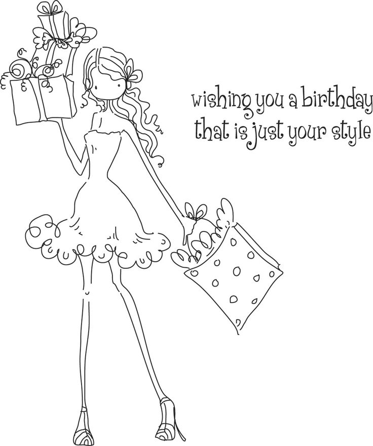 rubber stamps product | ... Girl Posh Has A Present Stamping Bella Unmounted Rubber Stamp LL131