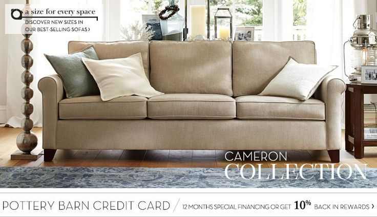 Cameron Sofa Collection | Pottery Barn | great room | Pinterest