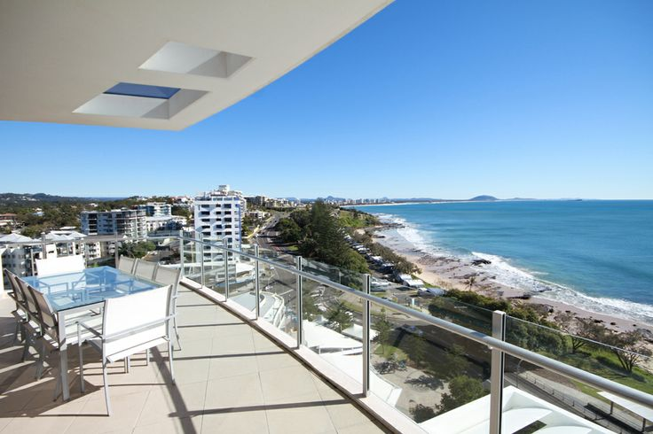 View from Oceans Mooloolaba penthouse rooftop.